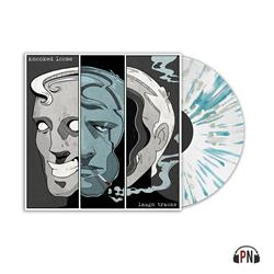 Laugh Tracks  Clear With Grey And Aqua Splatter