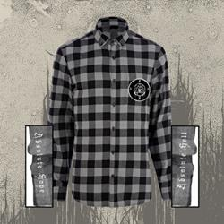 Girl's Flannel w/ Patch Black/Grey