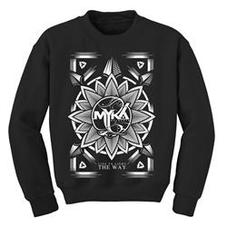 Flower Black Crewneck Sweatshirt