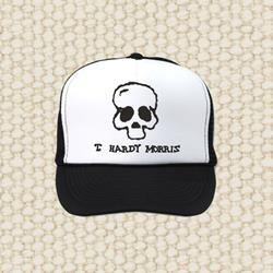 Skull Black/White Trucker Hat