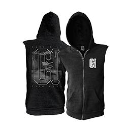 Asylum Black - Sleeveless Zip Up Extra Small