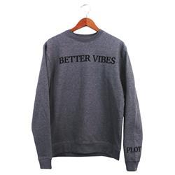 Better Vibes Text Deep Heather