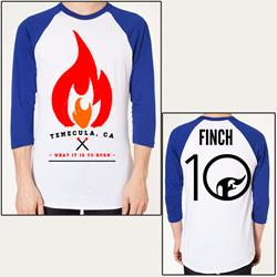Flame Blue/White Baseball Shirt