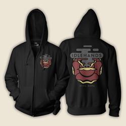 Dena Mora Black Zip-Up Sweathshirt