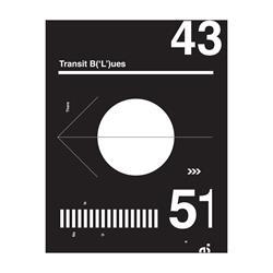 Transit Blue  18X24 Screen Printed