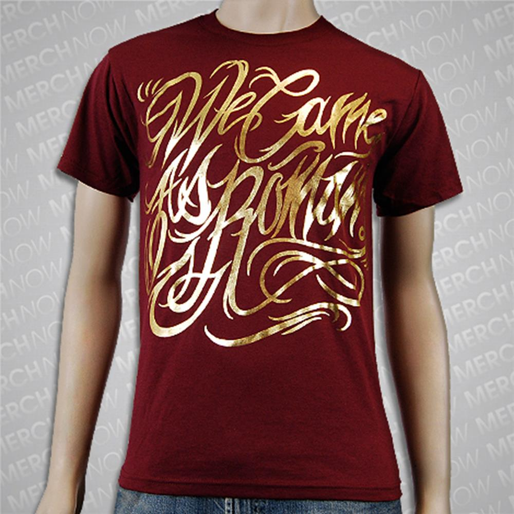 Gold Foil Maroon